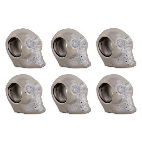 DII Silver Skull Napkin Ring (Set of 6)