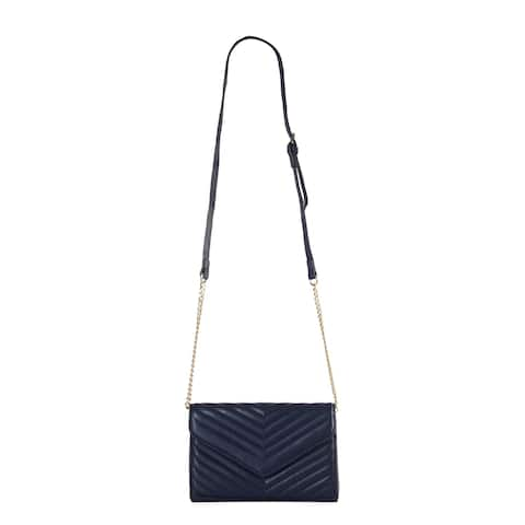 Diophy PU Leather Wave Quilted Two Ways Use Cross Body Handbag