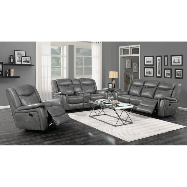 Lindell Cool Grey 3-piece Motion Living Room Set