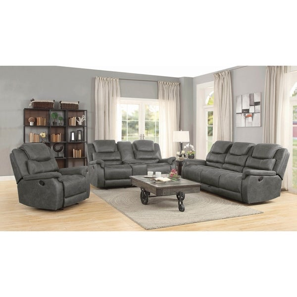 Everly Grey 2-piece Pillow Top Arm Motion Living Room Set