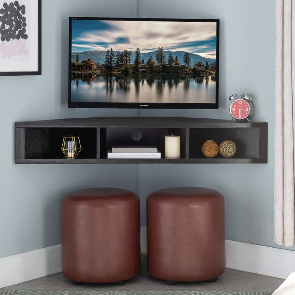 corner tv mount with shelf