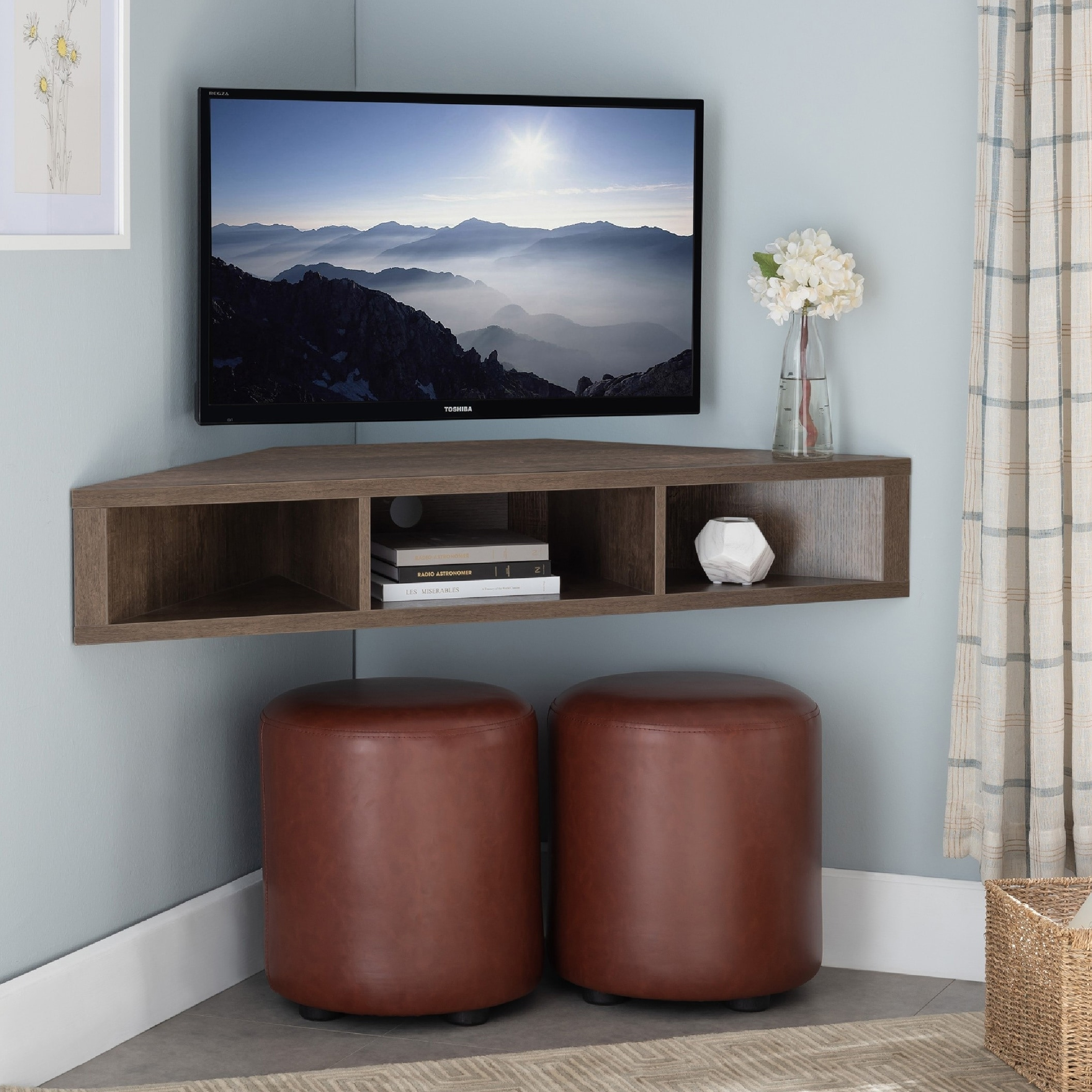 Copper Grove Sukhumi Wall Mounted Floating Corner Media Console On Sale Overstock 28562223