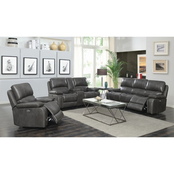 Flannery Charcoal 2-piece Power Living Room Set