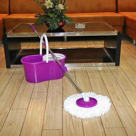 360-Degree Rotary Head Stretchable Ultra Slim Mop 4 Colors