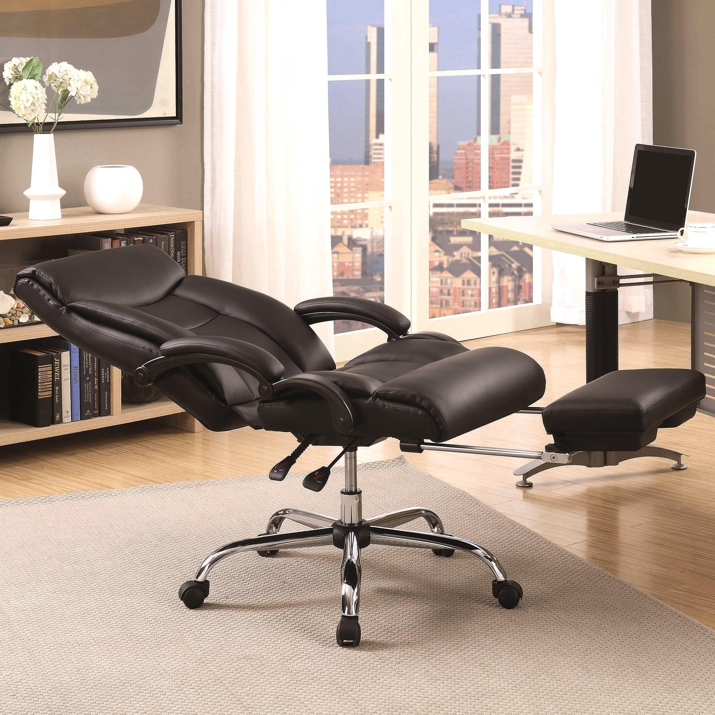 Adjule Black Reclining Office Chair