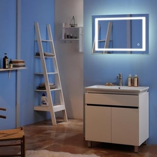 Bathroom Built-in/External Waterproof Vanity Touch LED Light Bathroom Mirror