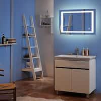 Bathroom Built-in/External Waterproof Vanity Touch LED Light Bathroom Mirror