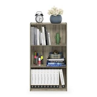 Furinno 99736 Basic 3-Tier Bookcase Storage Shelves, Sonoma Oak