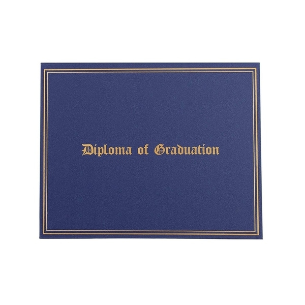 Certificate Holder Diploma Cover Letter-Sized, Navy Blue 11.5 x 9 Inches