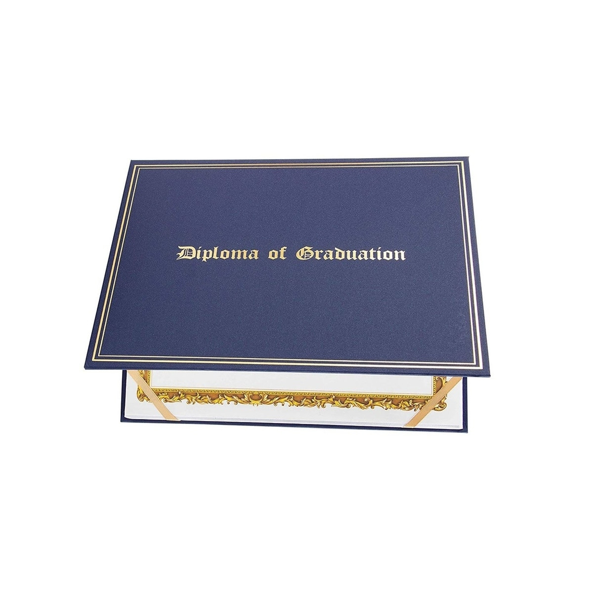 Certificate Holder Diploma Cover Letter Sized Navy Blue 11 5 X 9 Inches