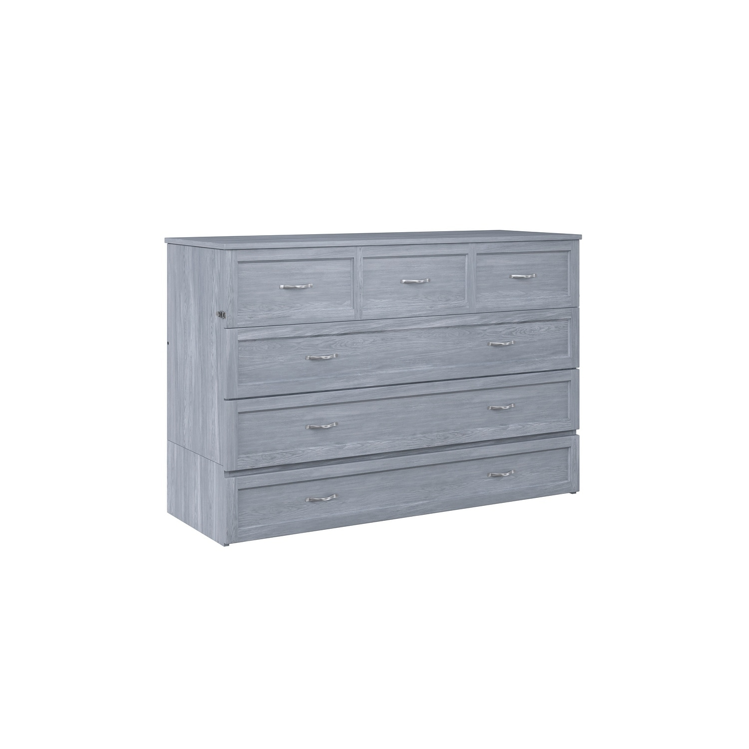 super popular 3964a 5e4a5 Deerfield Murphy Bed Chest Queen Driftwood with Charging Station