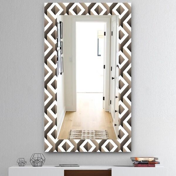 Designart 'Scandinavian 8' Mid-Century Mirror - Wall Mirror - Grey/Silver