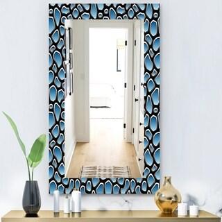 Designart 'Scandinavian 9' Modern Mirror - Vanity Mirror - Blue