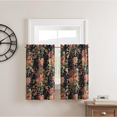 Waverly Kensington Bloom Window Tier Pair