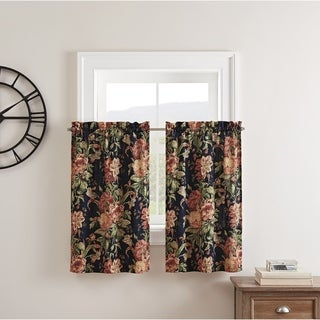 Waverly Kensington Bloom Window Tier Pair