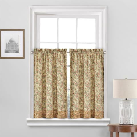 Waverly Paisley Verveine Window Tier Pair