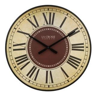 La Crosse Clock BBB81410 21 Inch Barton Quartz Wall Clock