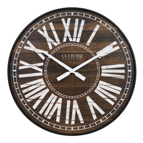 La Crosse Clock BBB81427 21 Inch Liam Quartz Wall Clock