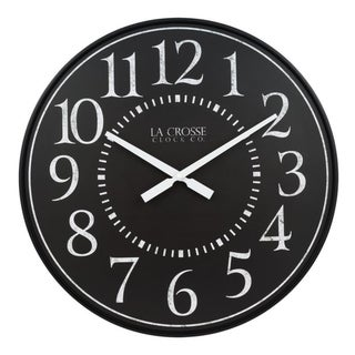 La Crosse Clock BBB81441 21 Inch Monroe Quartz Wall Clock