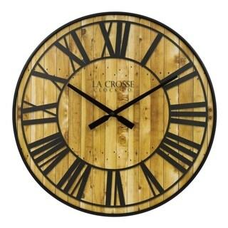 La Crosse Clock BBB81403 21 Inch Rhett Quartz Wall Clock