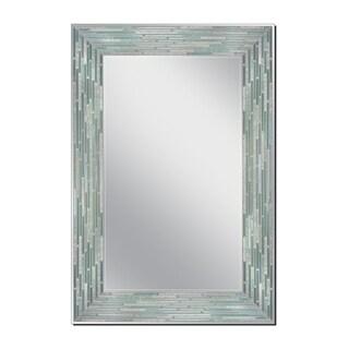 Headwest 23.5 x 35.5 Reeded Sea Glass Wall Mirror