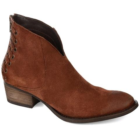 Journee Signature Women's Genuine Leather Arika Bootie