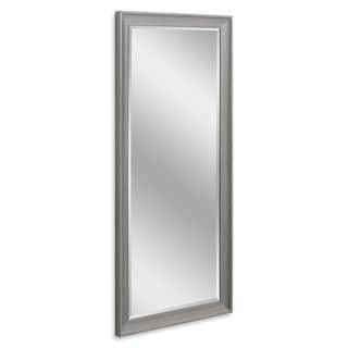 Headwest 29 x 63 Transitional Driftwood Gray Leaner Mirror