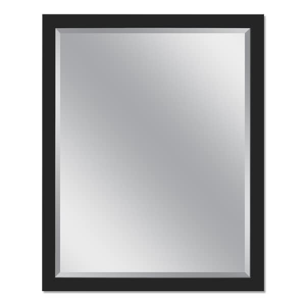 Headwest 24 x 30 Stainless Steel Matte Black Rectangle Wall Mirror