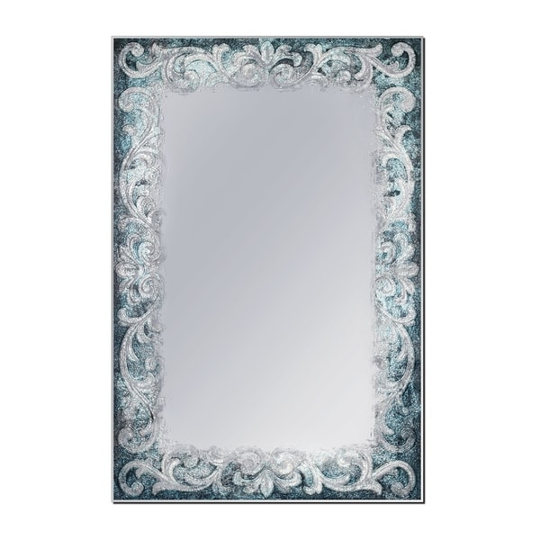 Headwest 23.5 x 35.5 Blue Tapestry Wall Mirror