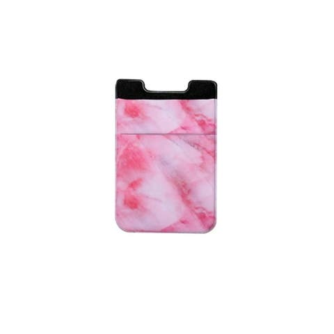 Stretchy Spandex Marble Design Cell Phone Sticker Credit Card Holder