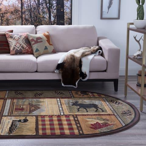 Porch & Den Redelfs Lodge Design Novelty Area Rug