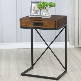 Carbon Loft Caputo Industrial 1-drawer End Table