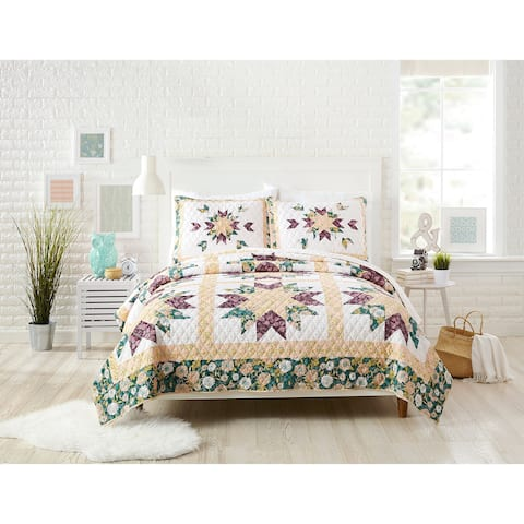 Makers Collective Foraged Flora Full/Queen Quilt Set, 3 Pieces