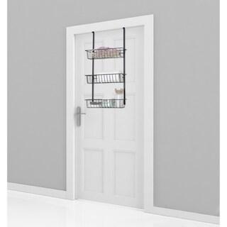 """Lauren Taylor-Over the Door Rack 3 Baskets - 29.5×16×7.5"""""""