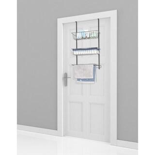 """Lauren Taylor-Over the Door Rack 2 Baskets & towel hanger - 29.5×16×7.5"""""""