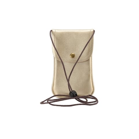 Crossbody Faux Leather Cell Phone Pouch