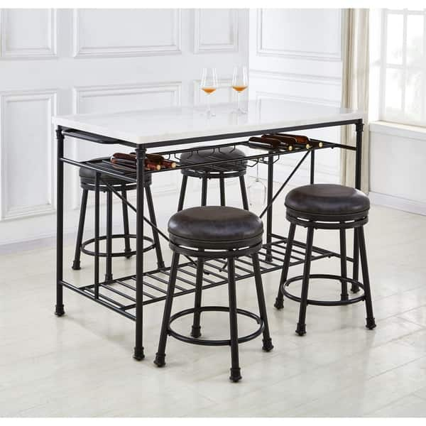 Shop Callao Marble Tall Kitchen Island by Greyson Living ...