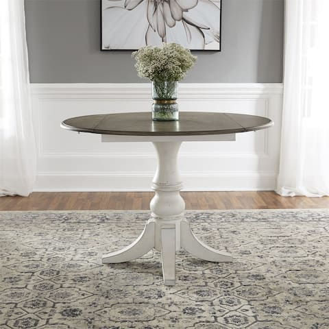 Magnolia Manor Antique White Drop Leaf Table