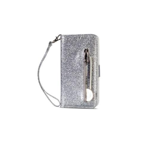 Samsung S9 Glitter Faux Leather Flip Wallet Wristlet