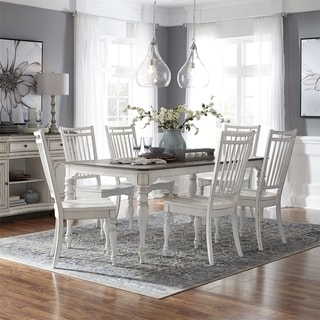 Magnolia Manor Antique White Optional 7-piece Leg Table Set