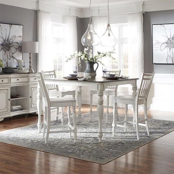 Magnolia Manor Antique White Optional 7-piece Gathering Table Set