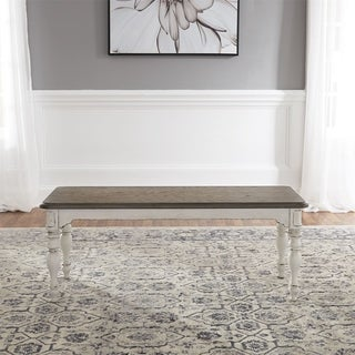 Link to Magnolia Manor Antique White Dining Bench Similar Items in Kitchen & Dining Room Chairs