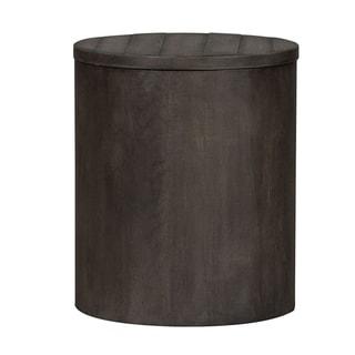 Modern Farmhouse Dusty Charcoal Drum End Table