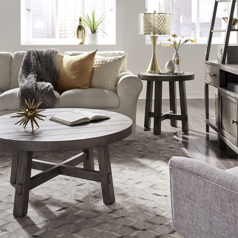 Modern Farmhouse Dusty Charcoal 12-piece Round Table Set