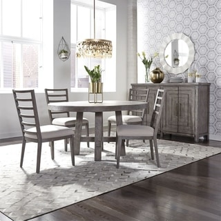 The Gray Barn Hammond Mill Modern Farmhouse Dusty Charcoal 5-piece Round Table Set
