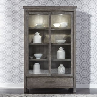 Modern Farmhouse Dusty Charcoal 1-drawer Display Cabinet