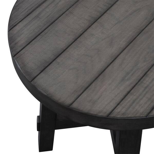 Shop Modern Farmhouse Dusty Charcoal Splay Leg Round End Table