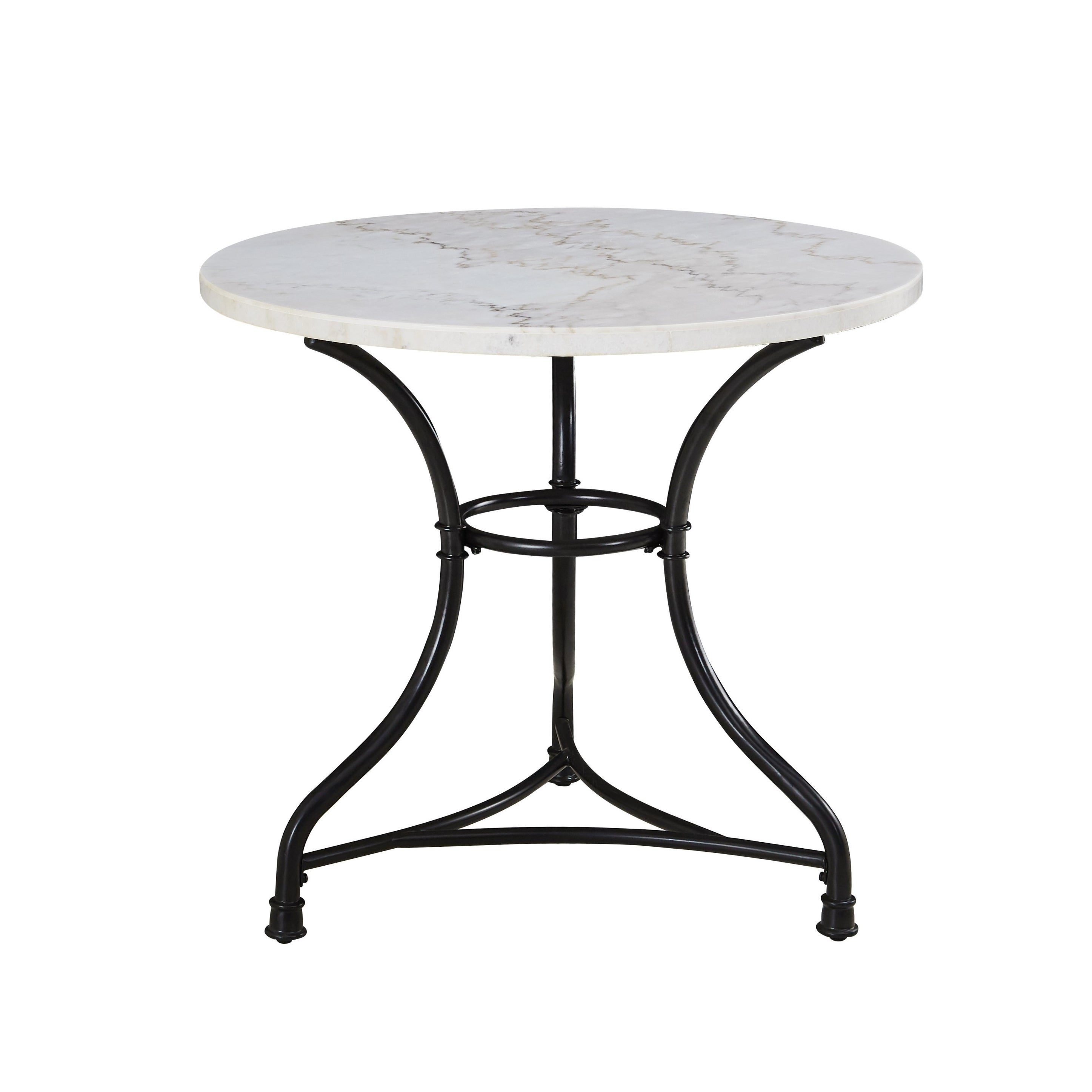 Callao 34 Inch Round Marble Bistro Table By Greyson Living Black On Sale Overstock 28566150