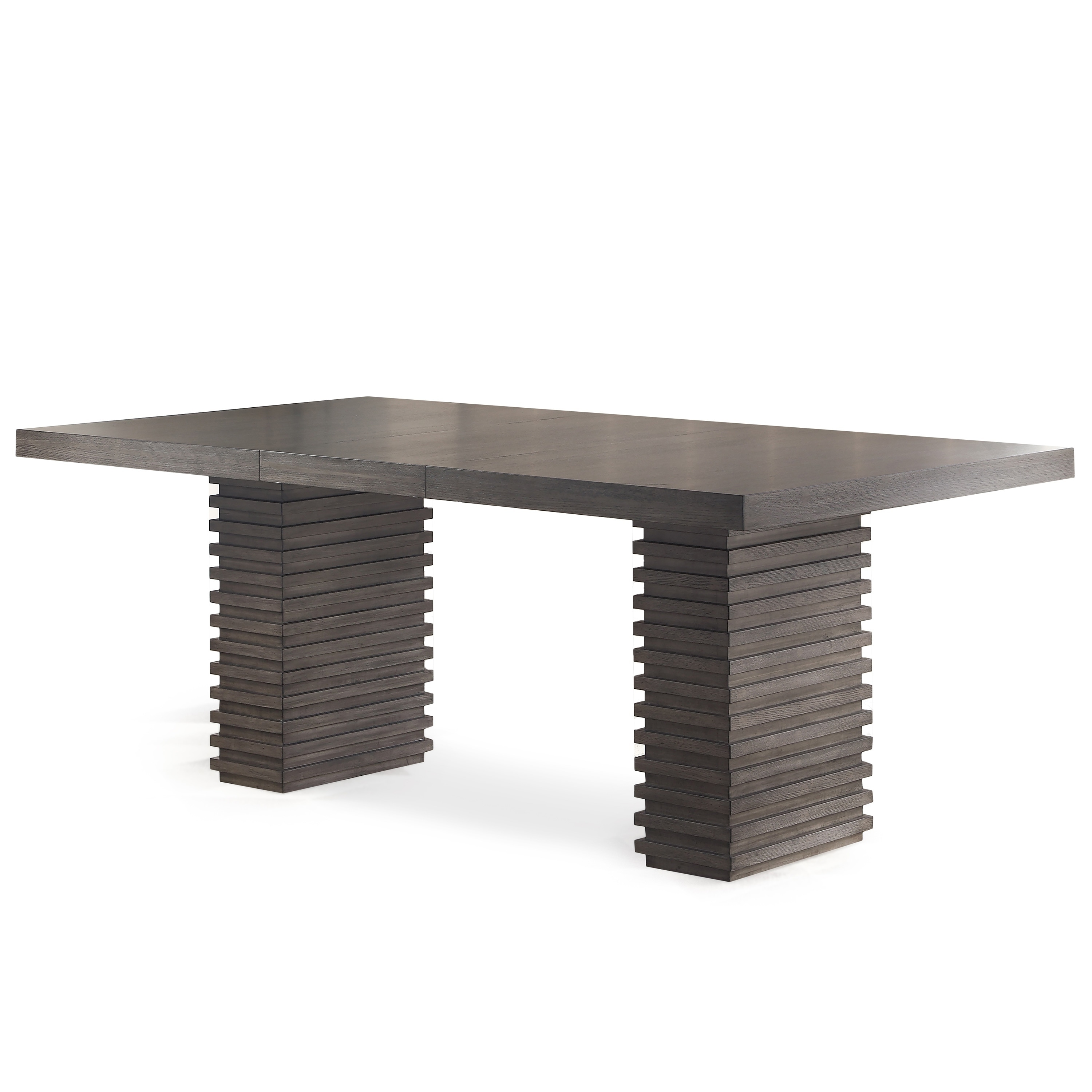 Milano 78 Inch Contemporary Wooden Dining Table By Greyson Living Grey Brown