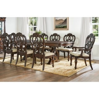 Greyson Living Richland Pecan Finish Traditional 9 Piece Dining Set
